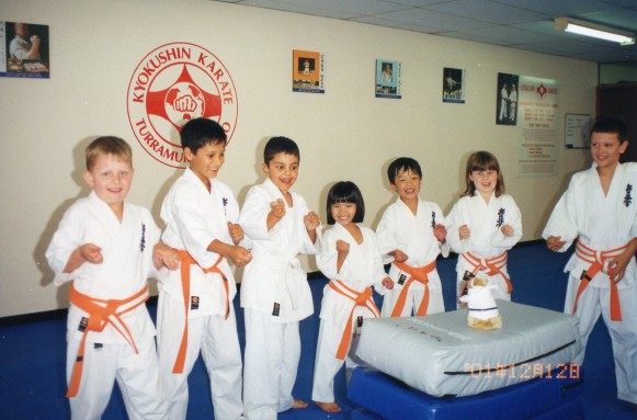 Sempai Bec and Gavin Humphries third and fourth from left