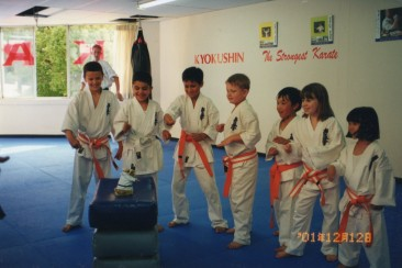 Young Turramurra KIMAA students inspired by a new Sensei