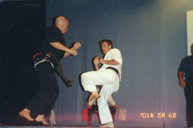 Sensei Mark Shelmerdine fights in a tournament