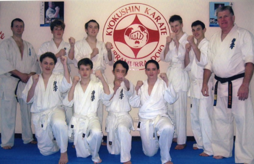 The first Knox Karate class