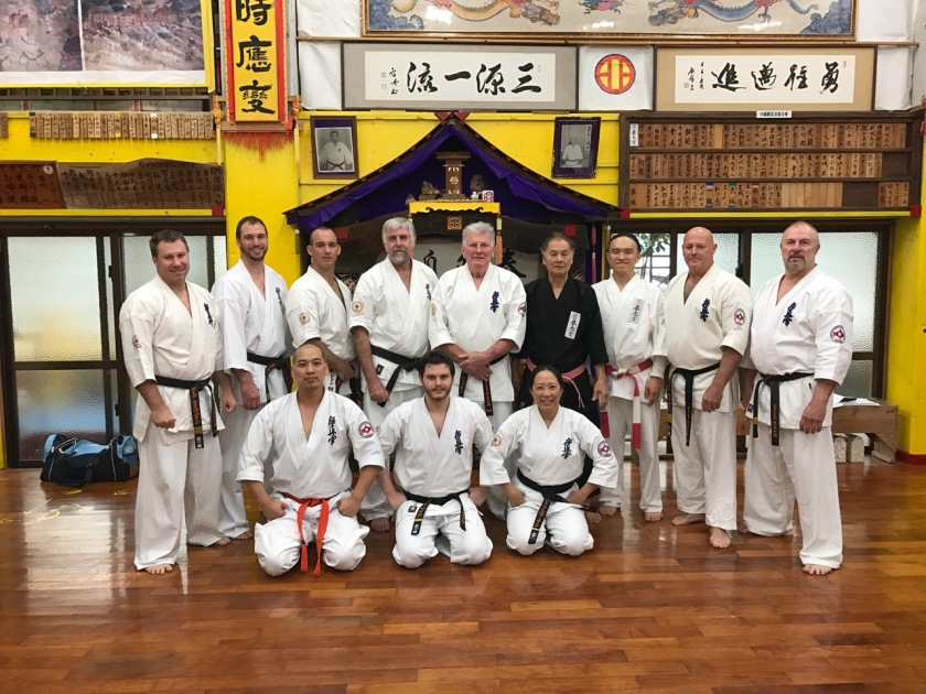 KIMAA with Sensei Hokama and Shihan Ken after training.