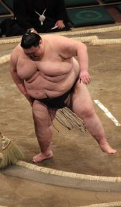 One of the Sumo fighters at the Tokyo Budokan.