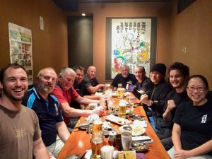 KIMAA with Shihan Ken at dinner on their last night of the tour.