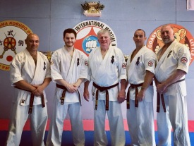Sempai Rob James, Sempai Alex Lloyd, Shihan Howard Lipman, Sensei Jon Ellis & Sensei Mark McFadden.