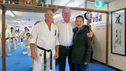 Shihan Rick, Hanshi Howard and his wife Masumi