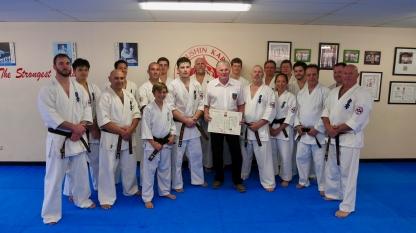 Hanshi Howard with KIMAA black belts