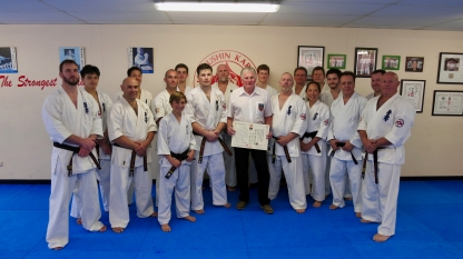 Hanshi Howard with KIMAA black belts