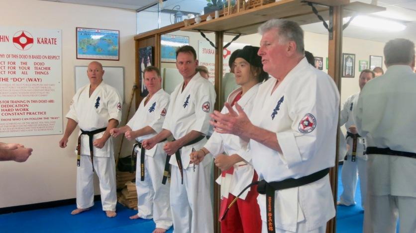Shihan Rick Cunningham, Shihan Doug Turnbull, Shihan Peter Olive, Shihan Ken Ogura & Hanshi Howard Lipman.