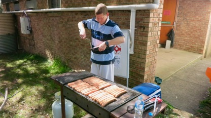 Sensei Ian Holdaway on the BBQ