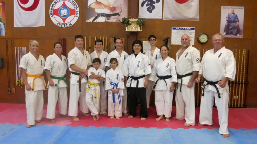 The KIMAA NSW Far North Coast crew with Shihan Ken Ogura.