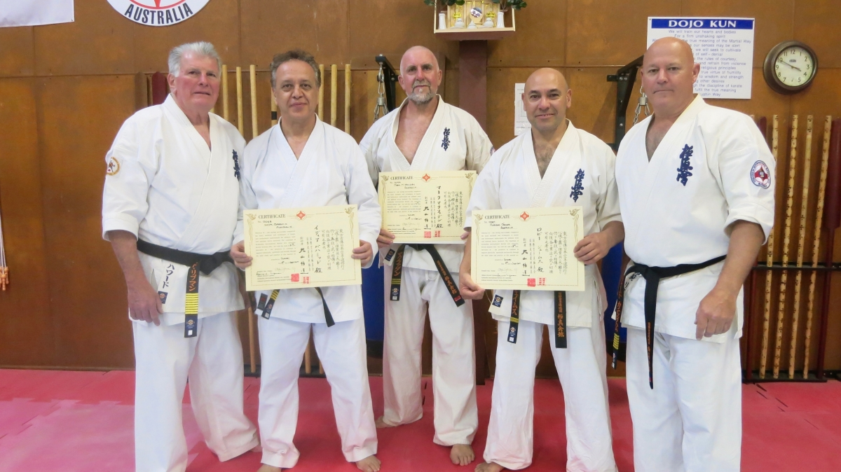 Black Belt Promotions – September 9, 2017