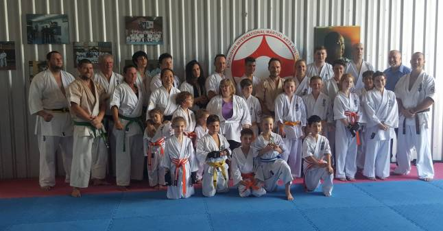 The karateka who graded with their instructors, 16 December 2017.
