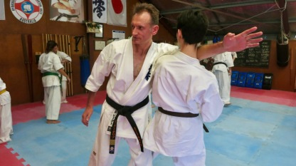 Shihan Peter Olive instructing.