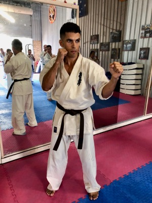 Jermaine Downs, of Brisbane Dojo, at the North Coast KIMAA Seminar.