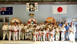 The karate class after the grading on Sunday.