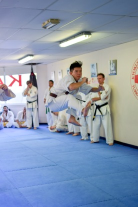 Sempai Jasper Choi during the grading.