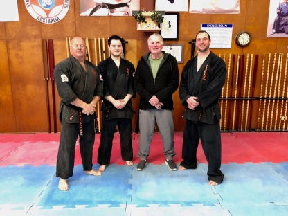 Shihan Rick, Sensei Alex, Hanshi Howard & Sensei James
