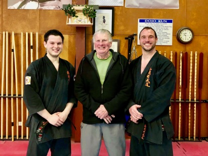 Sensei Alex, Hanshi Howard & Sensei James