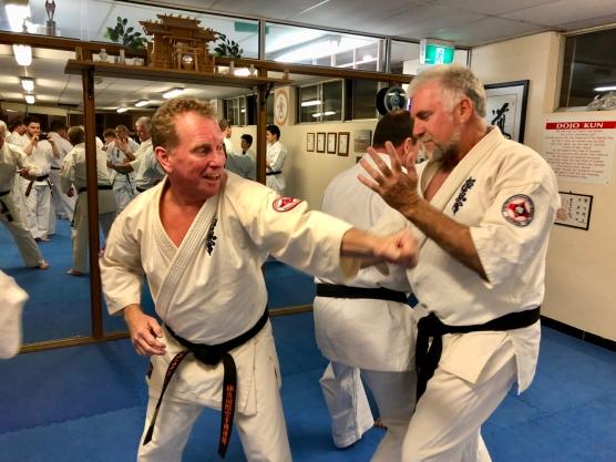 Kancho Doug Turnbull with Sensei Mark McFadden