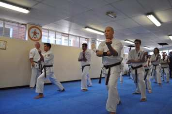 Basics in zenkutsu dachi during the grading