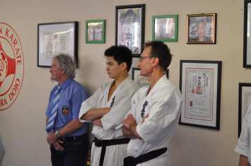 Left to right - Sensei David Craigie (Young Dojo), Sensei Ben Ng (Turramurra Dojo) and Shihan Peter Olive (Annangrove Dojo)
